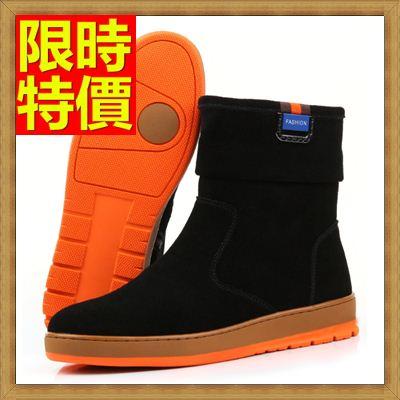 ☆雪靴 男休閒鞋-反絨皮保暖羊毛中筒真皮男靴子2色64s36【澳洲進口】【米蘭精品】