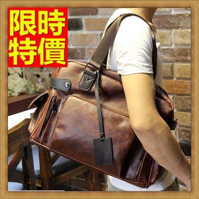 ☆旅行包手提包-橫款方型時尚皮革男肩背包64y3【日本進口】【米蘭精品】