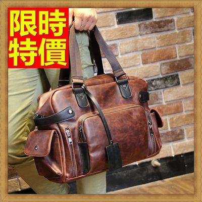 ★旅行包 手提包-橫款方型時尚皮革男肩背包64y3【獨家進口】【米蘭精品】