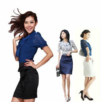 ☆職業套裝 OL制服-流行長袖修身顯瘦女裙裝6h16【韓國進口】【米蘭精品】