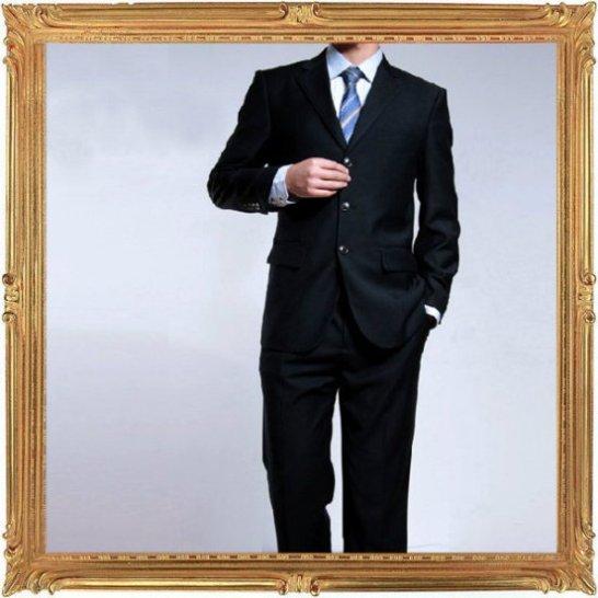 西裝套裝含西裝外套 西裝褲-時尚商務韓版修身男西服成套2色6x35【韓國進口】【米蘭精品】