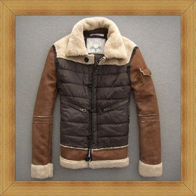 夾克外套麂皮羊羊羔毛皮衣-時修身保暖經典男外套9e4【義大利進口】【米蘭精品】