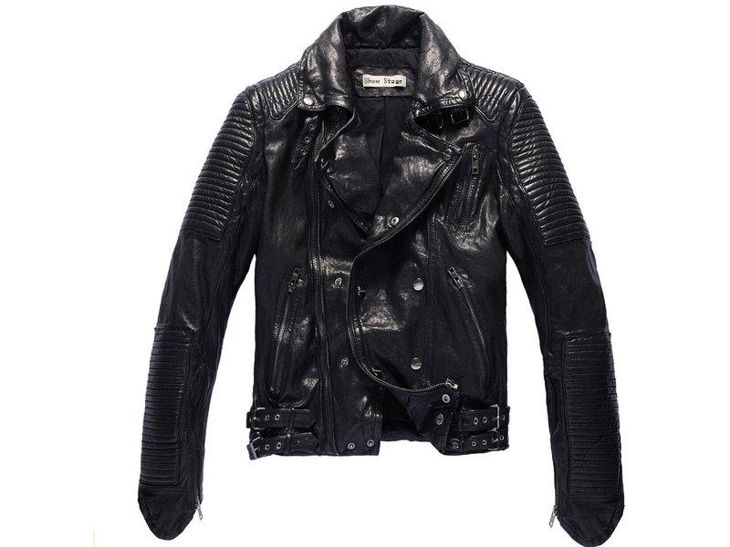 真皮皮衣 男外套-立領修身時尚做舊男機車夾克lm40【義大利進口】【米蘭精品】