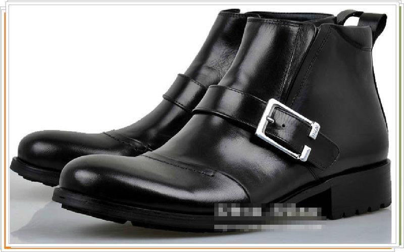 <br/><br/> ☆馬丁靴 真皮男鞋子-英倫時尚經典短筒靴2色5s25【義大利進口】【米蘭精品】<br/><br/>