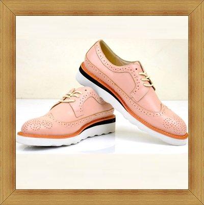 ~皮鞋 牛津鞋~英倫 型男雕花休閒鞋子5色5s96~義大利 ~~米蘭 ~