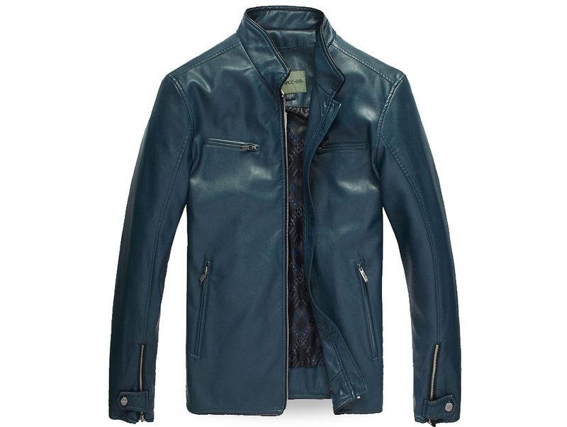 皮衣外套 機車夾克-立領帥氣修身男外套2色cm101【韓國進口】【米蘭精品】