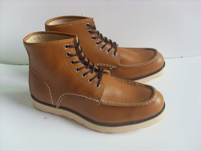<br/><br/> ☆日本中筒鞋-經典復古流行皮革男靴子aa8【韓國進口】【米蘭精品】<br/><br/>