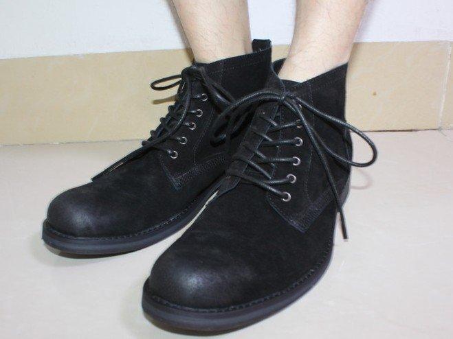 真皮中筒靴 男鞋子-時尚絨面帥氣男靴子ms8【韓國進口】【米蘭精品】