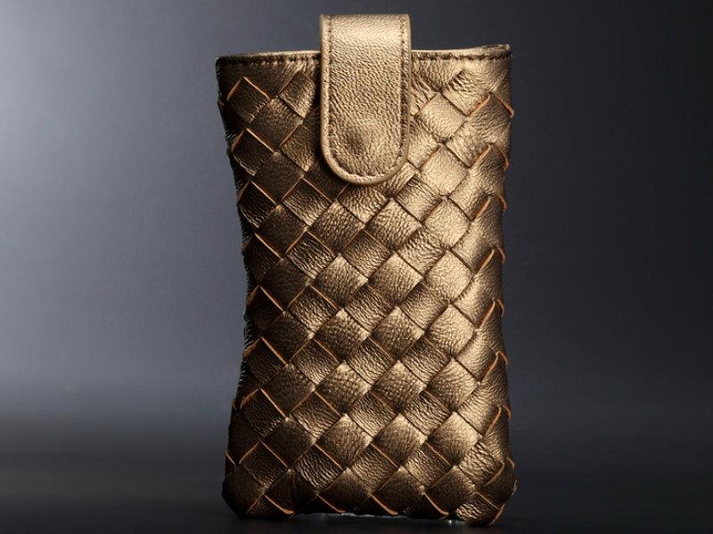 手機包 真皮編織包-經典時尚手工皮革女包包16色8m9【義大利進口】【米蘭精品】