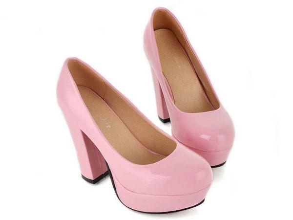 ☆粗跟高跟鞋 女鞋子-時尚氣質優雅通勤女休閒鞋5色nws12【韓國進口】【米蘭精品】