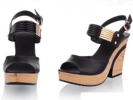 <br/><br/> ☆粗跟涼鞋休閒鞋-OL時尚氣質女鞋子2色s134【韓國進口】【米蘭精品】<br/><br/>