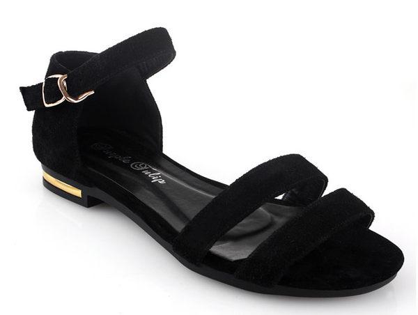 ☆涼鞋休閒鞋-時尚氣質清涼女平底鞋s147【韓國進口】【米蘭精品】 0
