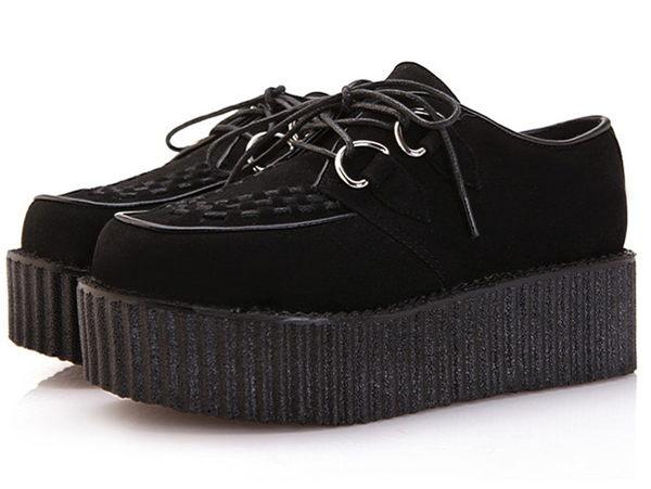 ☆厚底鞋休閒鞋-時尚氣質休閒女鞋子4色s43【韓國進口】【米蘭精品】