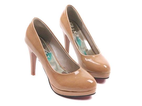 圓頭 高跟鞋 休閒鞋-時尚氣質優雅亮麗女鞋子4色ws31【韓國進口】【米蘭精品】