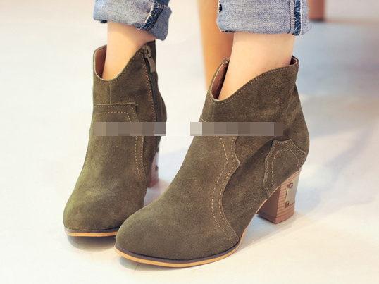 圓頭 高跟鞋 休閒鞋-時尚氣質優雅亮麗女鞋子3色ws57【韓國進口】【米蘭精品】