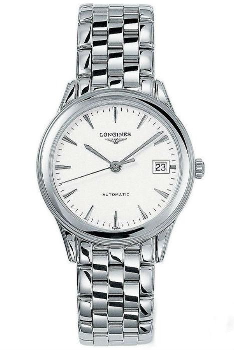 LONGINES L47744126旗艦經典腕錶/白面35.6mm