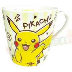 【真愛日本】19031200002 馬克杯-皮卡丘條紋黃 神奇寶貝 精靈寶可夢 皮卡丘 馬克杯 水杯 杯子 杯 單耳杯 陶瓷製