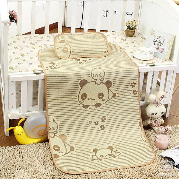 冰絲嬰兒床涼墊 寶寶涼蓆 冰絲草蓆 (不含枕頭) 嬰兒用品 JB0061 好娃娃