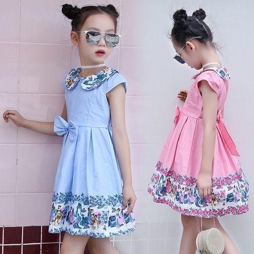 中大童短袖洋裝娃娃領連身裙童裝MC32105好娃娃