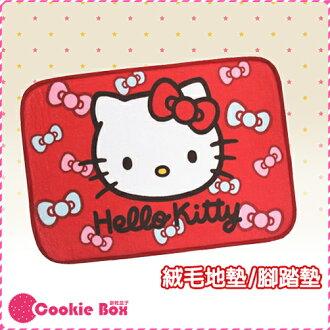 正版 授權 HELLO KITTY 紅色 腳踏墊 室內 踏墊 地毯 地墊 墊子 絨毛 舒適 可愛 造型 *餅乾盒子*