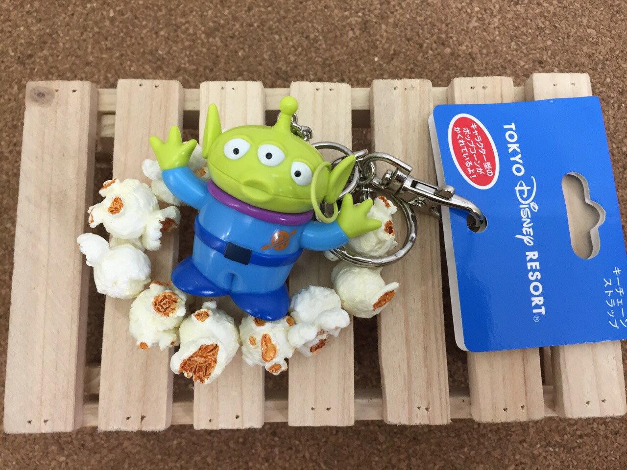 【真愛日本】15061300021 樂園限定鎖圈-爆米花筒三眼怪 迪士尼 玩具總動員 TOY 吊飾 飾品 鑰匙圈 正品 限量 預購