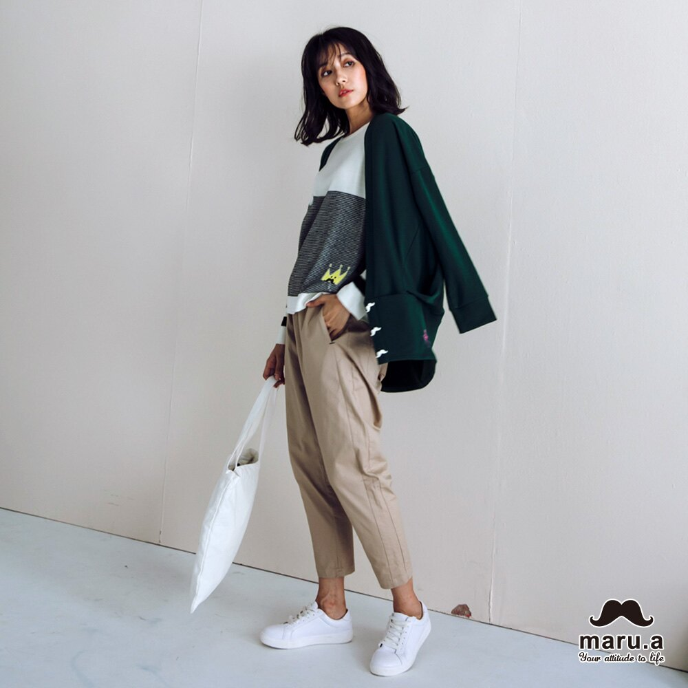 【maru.a】大V領寬鬆舒適開襟外套(2色)7921111 4