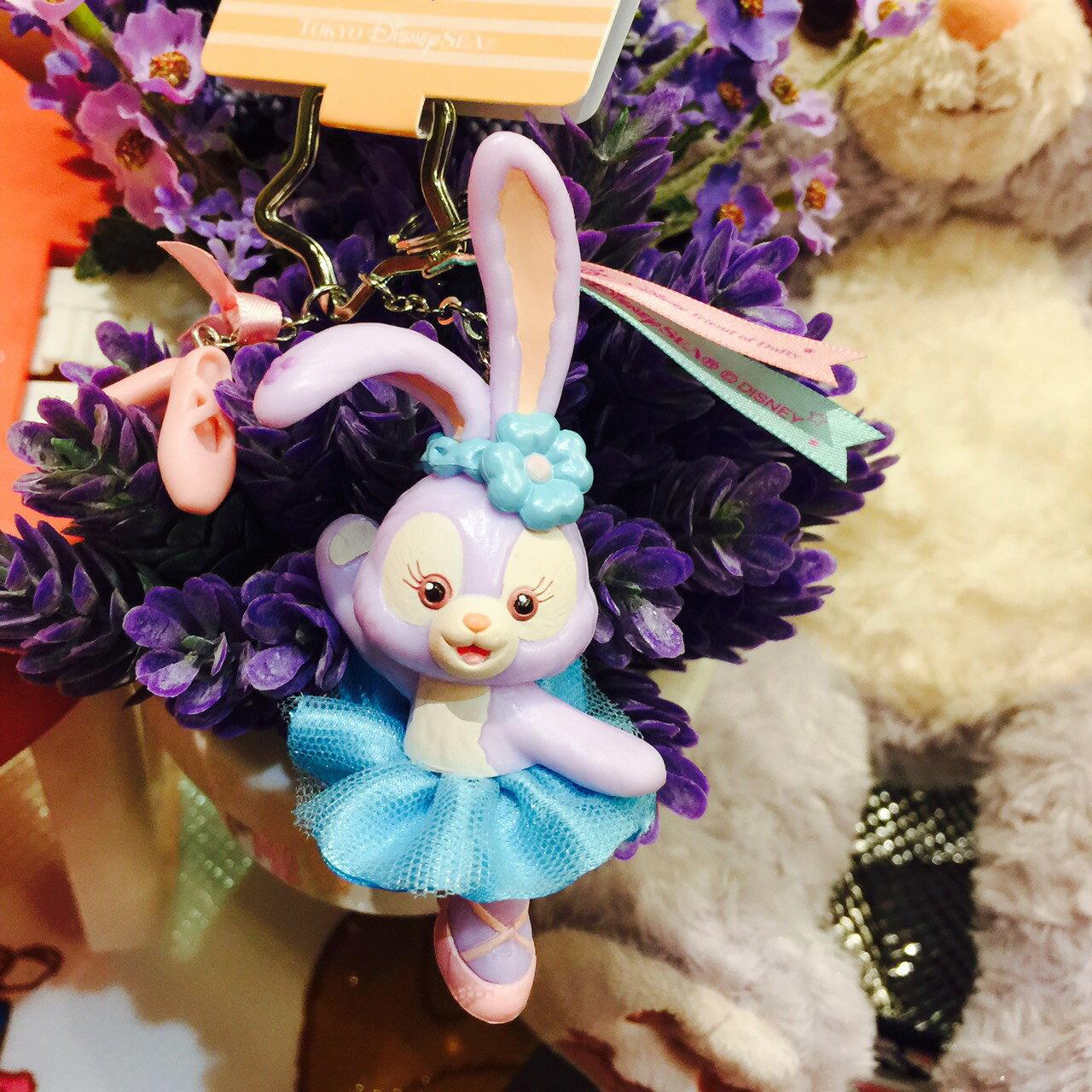 X射線【C918004】日本東京迪士尼代購-史黛拉 Stella Lou 芭蕾鑰匙圈,包包掛飾/鑰匙圈/兔子芭蕾/雪莉玫/達菲/畫家