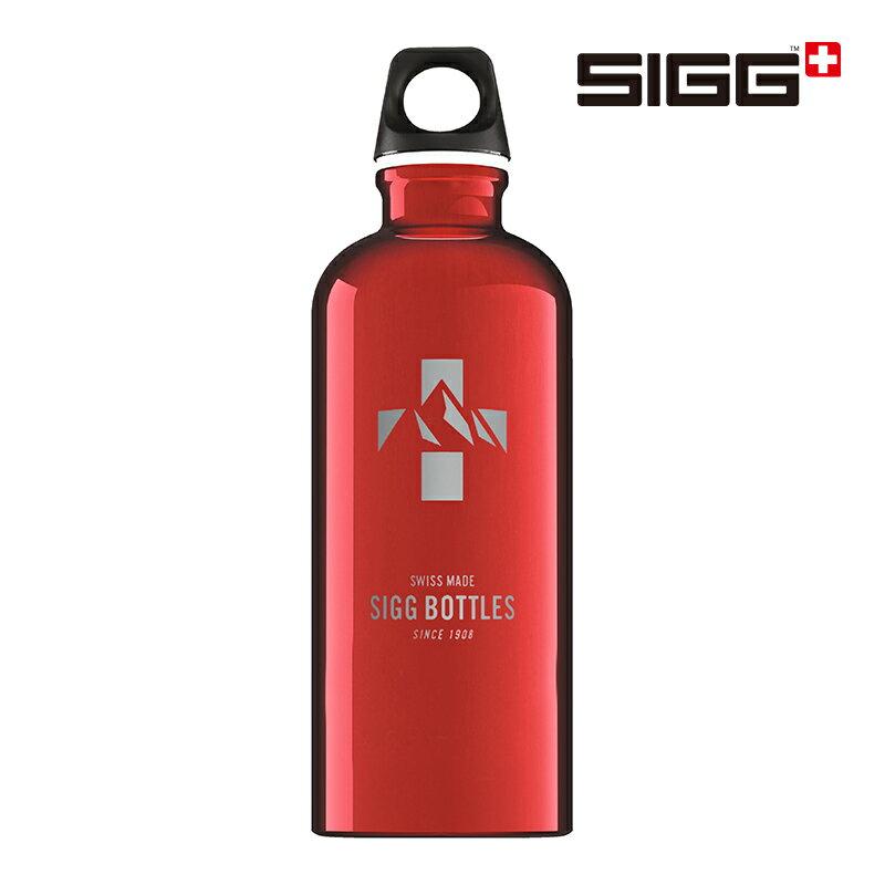 SIGG Traveller 旅行家經典鋁瓶 0.6L 紅色瑞士馬特洪峰 水壺 0