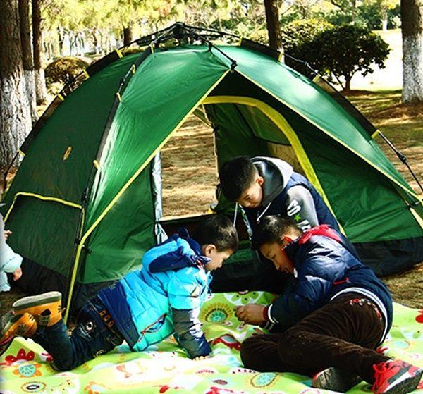 Mycolor:♚MYCOLOR♚雙層防雨全自動帳篷戶外裝備雙人野營快速3-4人家庭海邊渡假秒開【I04】