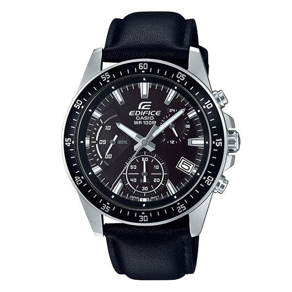 CASIO卡西歐EDIFICEEFV-540L-1A三針三眼時尚多功能腕錶44mm
