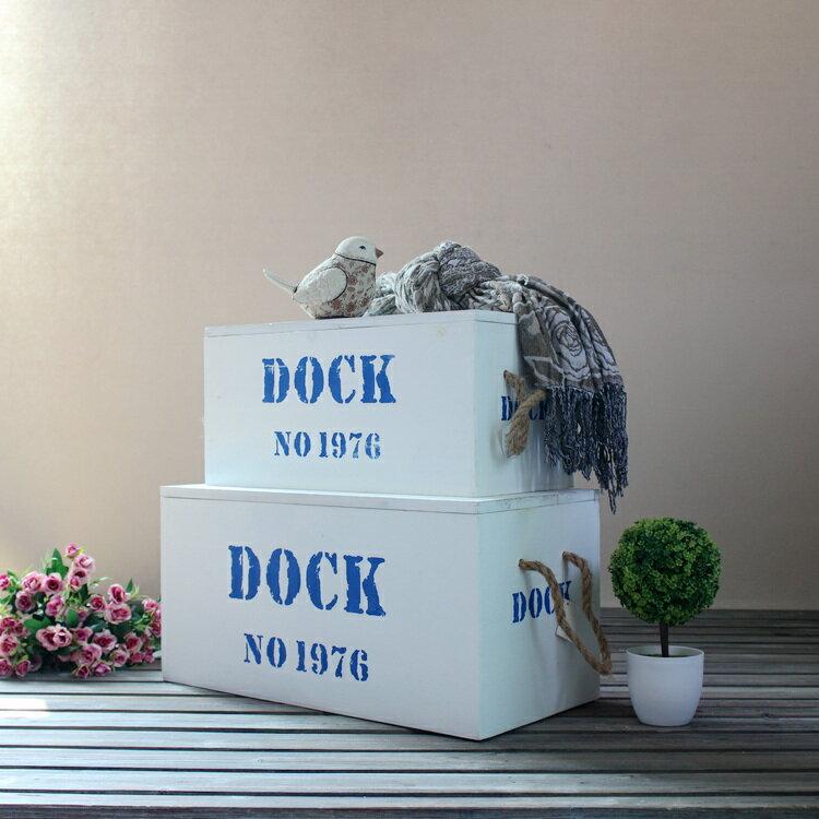 Zakka實木復古字母收納箱 麻繩簡約家居裝飾擺件櫥窗陳列攝影道具1入