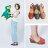 AppleNana。西班牙風情編織印刷真皮氣墊楔型鞋【QT15221380】蘋果奈奈 2
