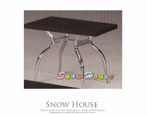 ╭☆雪之屋居家生活館☆╯A385-04 電鍍腳歐風小茶几/餐桌/茶桌/咖啡桌/置物桌**黑色面