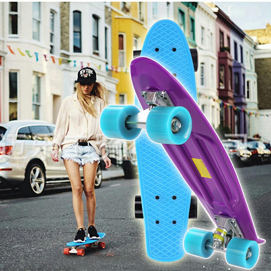 Complete Deck Skateboard Mini Plastic Skate Board 8 Colors 1