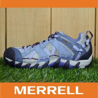 【3月 MERRELL限時7折】MERRELL WATERPRO MAIPO 水陸兩用鞋 女款 低筒健行鞋 快乾透氣 淺紫 萬特戶外運動