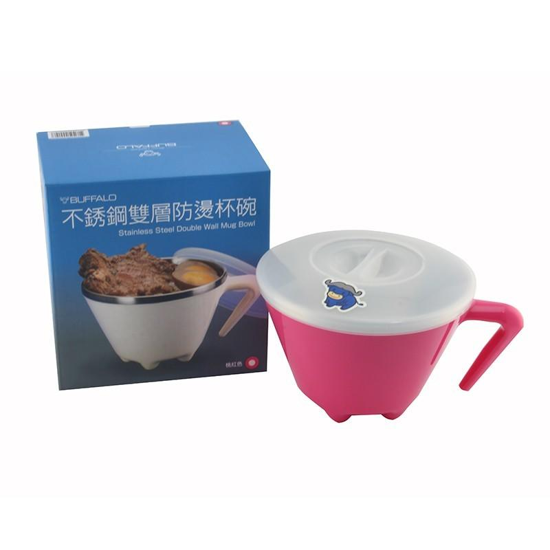 BUFFALO 牛頭牌 百福樂 620cc 不鏽鋼雙層防燙杯碗 雙層隔熱碗 隔熱碗 防燙碗 台灣製造