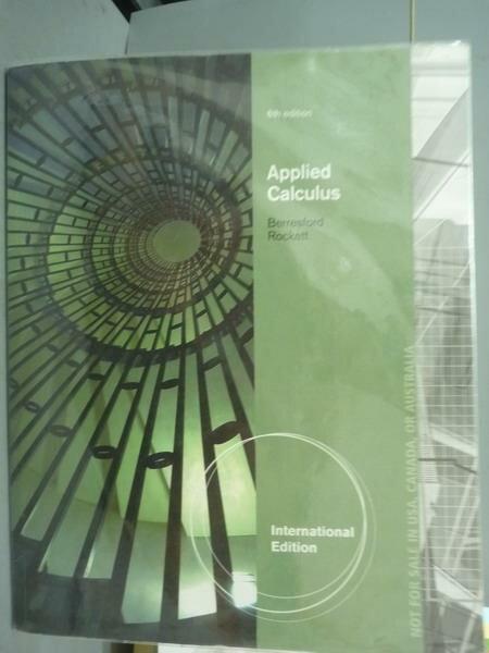 ~書寶 書T9/大學商學_PJK~Applied Calculus_Berresford Rockett_6  e
