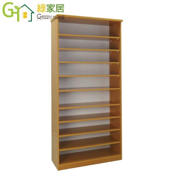【綠家居】羅斯環保2.8尺塑鋼開放式鞋櫃玄關櫃(4色可選)