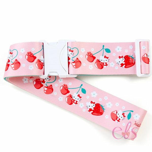 日本 凱蒂貓 HELLO KITTY旅行箱 行李箱束帶 粉底櫻桃KITTY ☆艾莉莎ELS☆