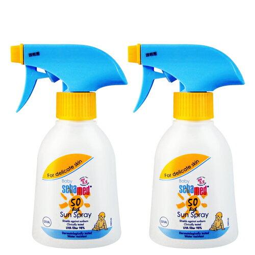 【2入優惠】SebamedBaby施巴5.5嬰兒防曬保濕噴霧(SPF50)200ml