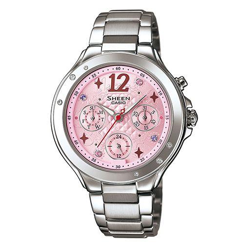 CASIO SHEEN SHE-3032D-4A繽紛霓虹時尚腕錶/粉紅色37mm