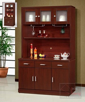 【尚品家具】GF-K04 木芯板胡桃4尺餐櫃下座~另有3尺餐櫃/收納櫃/碗盤櫥櫃