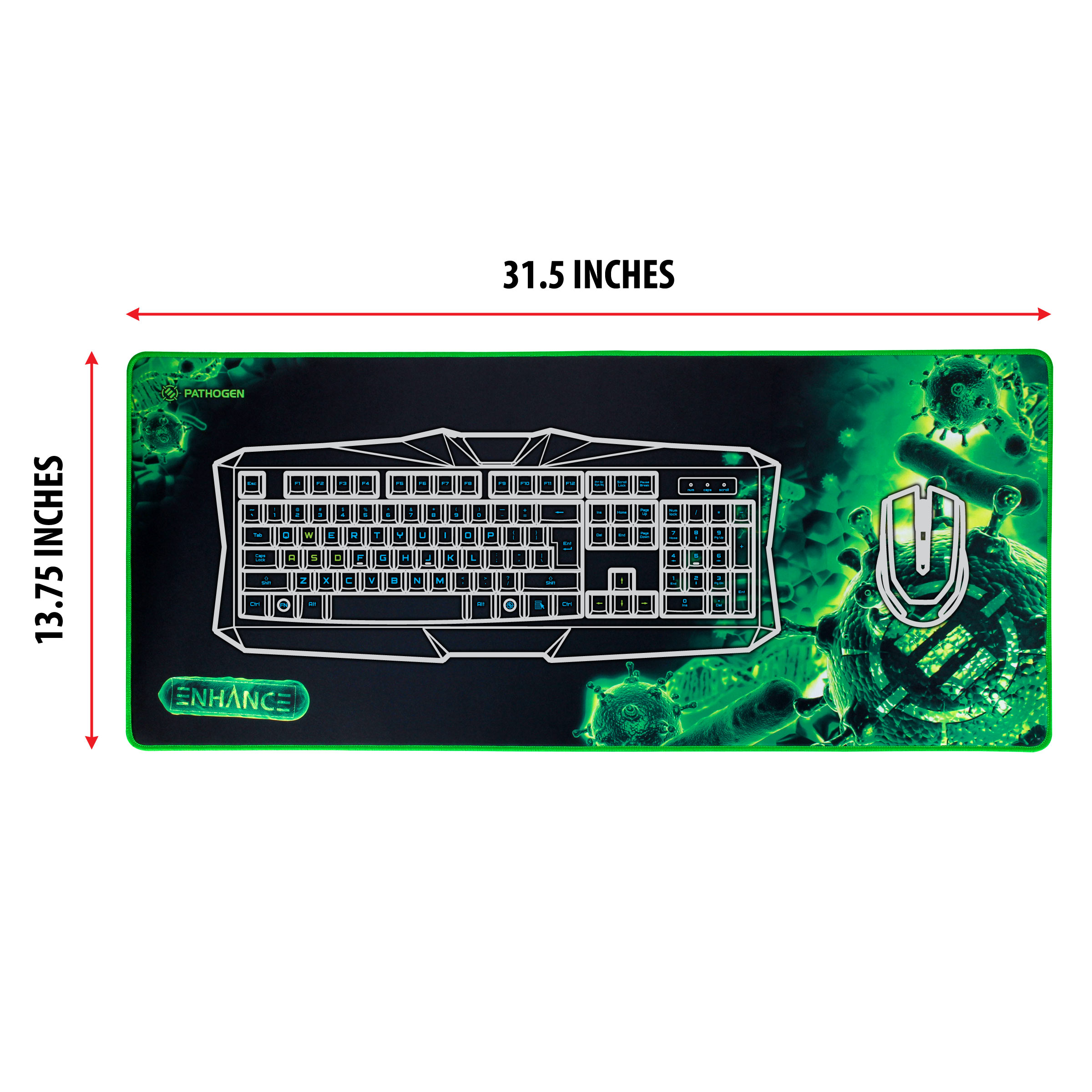 ENHANCE GX-MP2 XL Extended Gaming Mouse Pad Mat (31.5? x 13.75?) with Low-Friction Tracking Surface 5