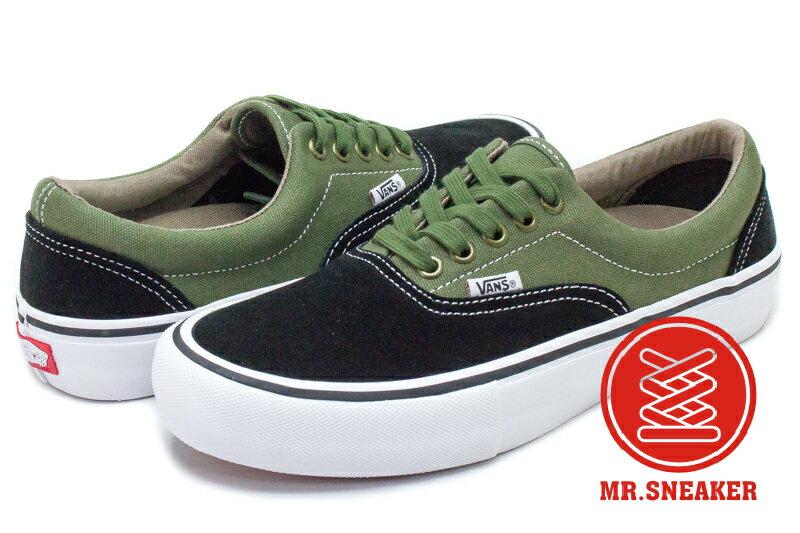 VANS ERA PRO 綠黑 墨綠 雙色 拼接 男段 72020205☆Mr.Sneaker☆