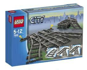 樂高積木LEGO《 LT7895 》CITY系列  分叉軌道