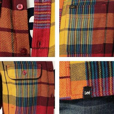 Lee 拼色長袖襯衫 4