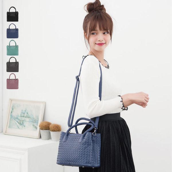 【加賀皮件】89.Alley多色輕量側背包編織包小方包兩用手提包女包HB89189