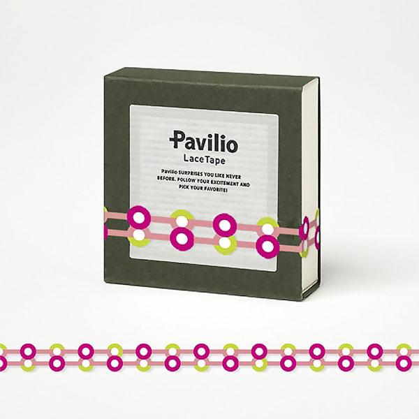 【日本Pavilio】風格膠帶MINI系列F-MI13BP鈕扣(粉紅)捲