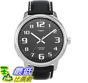 [106美國直購] 手錶 Timex Mens T28071 Easy Reader Black Leather Strap Watch T01