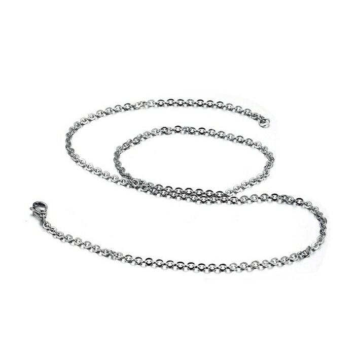 316L醫療鋼項鍊 2mm基本款O型立體圓鏈純鏈子項鍊 防抗過敏 不退色